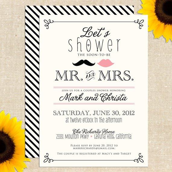 Couples Bridal Shower Invitations Wording