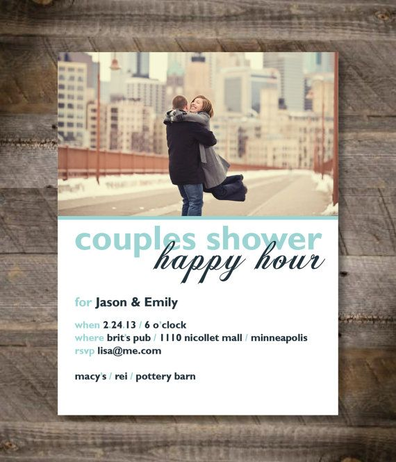 Couples Shower Invitation Happy Hour