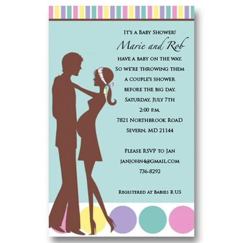 Couples Shower Sports Invitations