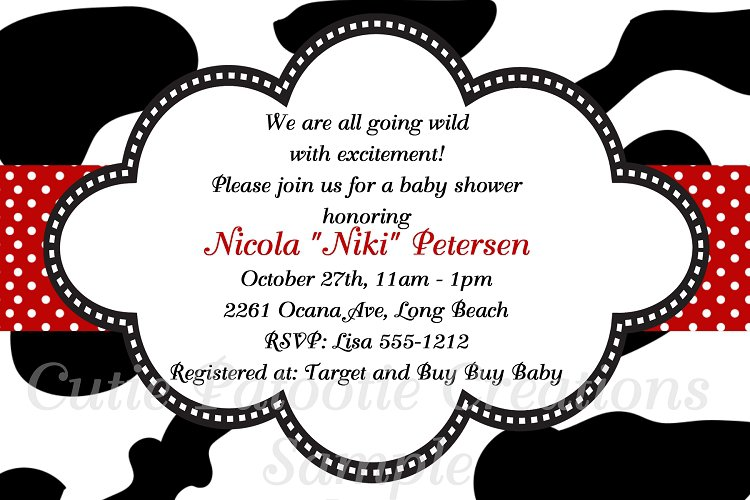 Cow Baby Shower Invitations