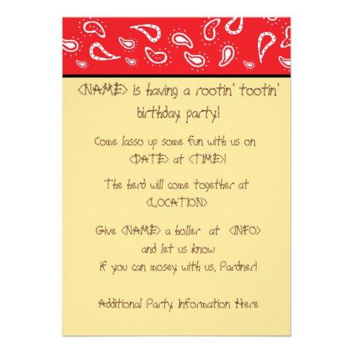 Cowboy Birthday Party Invitations Free