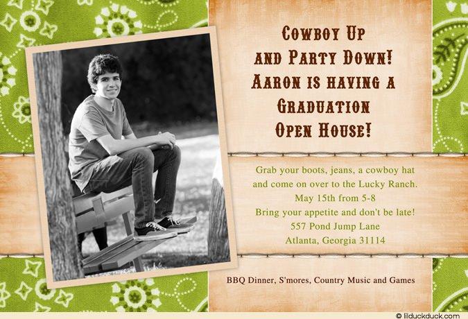 Cowboy Invitation Sayings