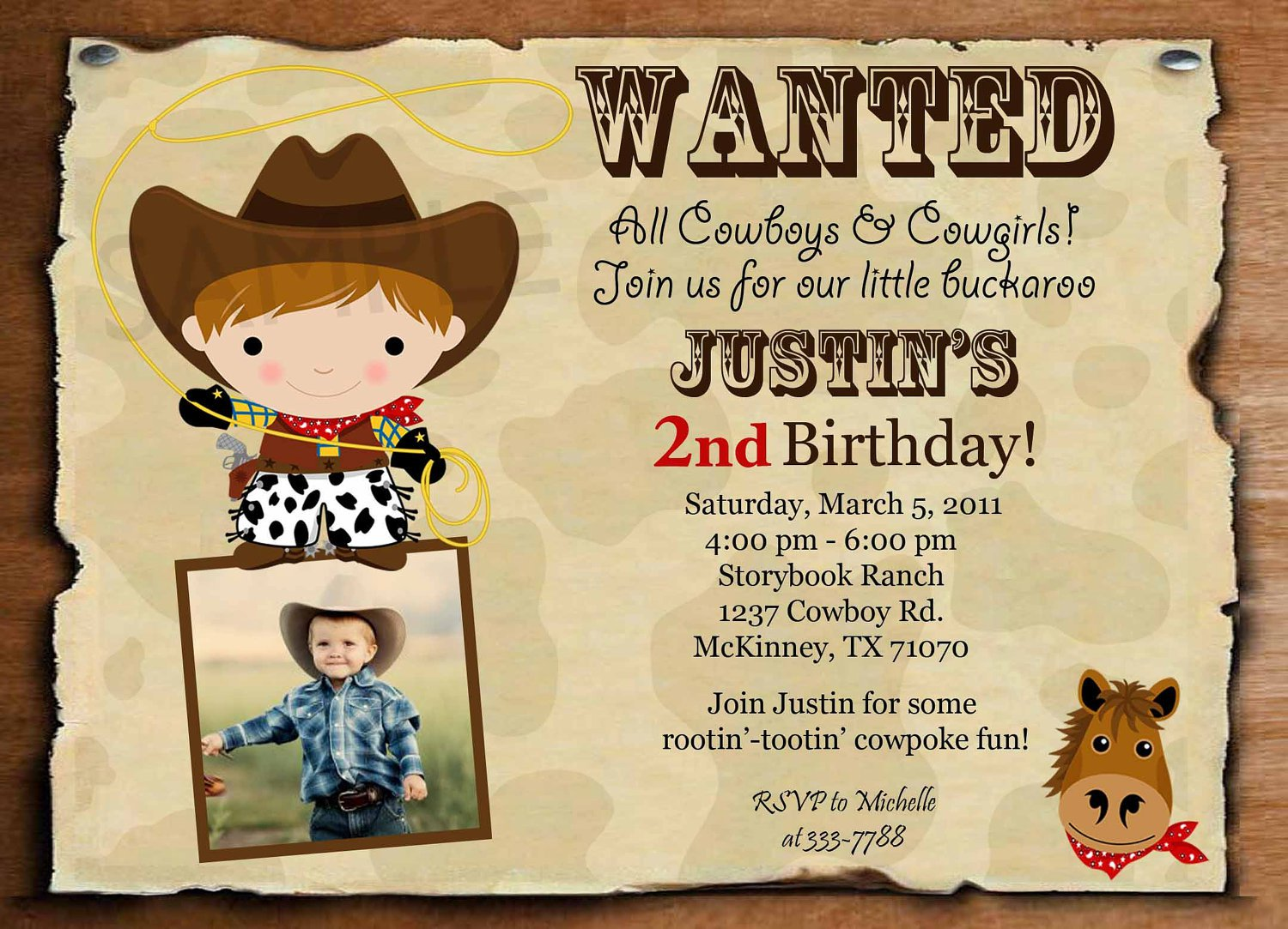 Cowboy Invitation Templates Free