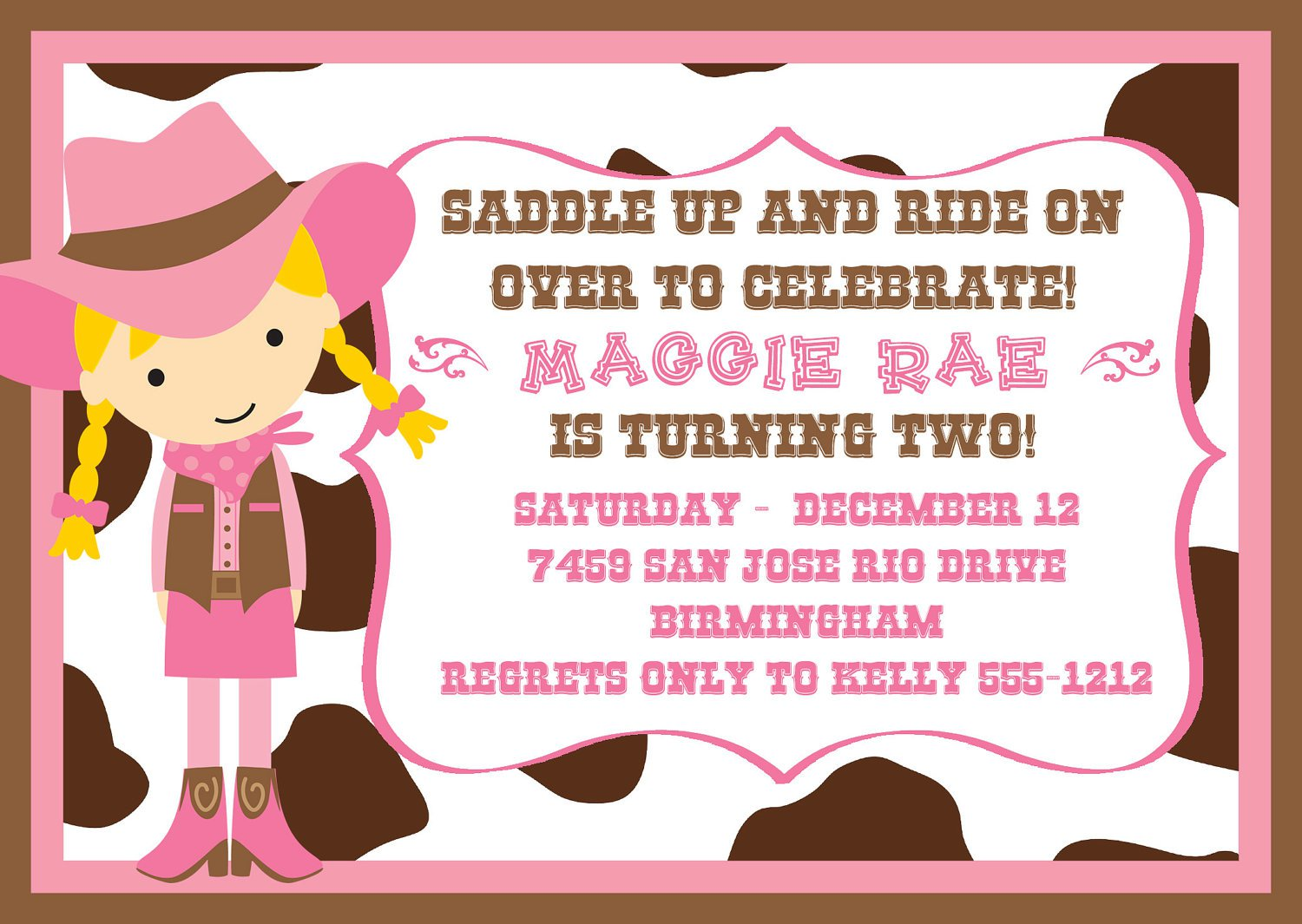 Horse Birthday Party Invitation Wording - Life Style By ...