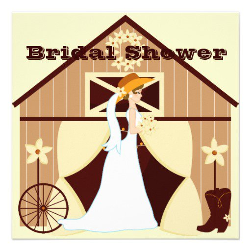 Cowgirl Bridal Shower Invitations
