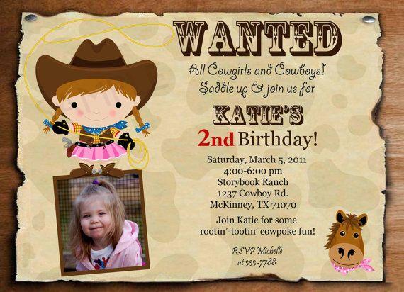 Cowgirl Invitation Ideas