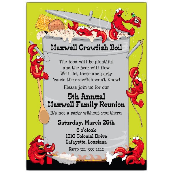 Crawfish Boil Invitations Blank