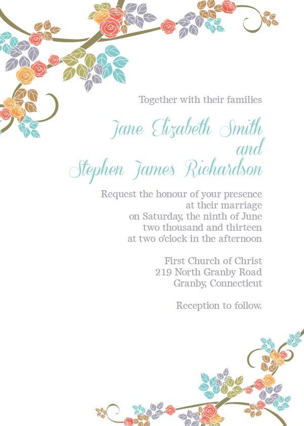 Create Free Printable Wedding Invitations