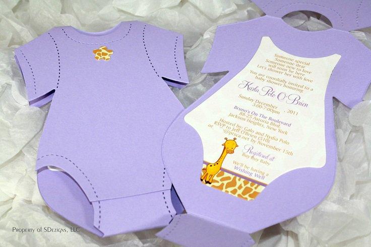 Creative Baby Shower Invitations Handmade