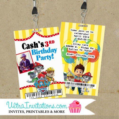 Credit Card Birthday Party Invitations