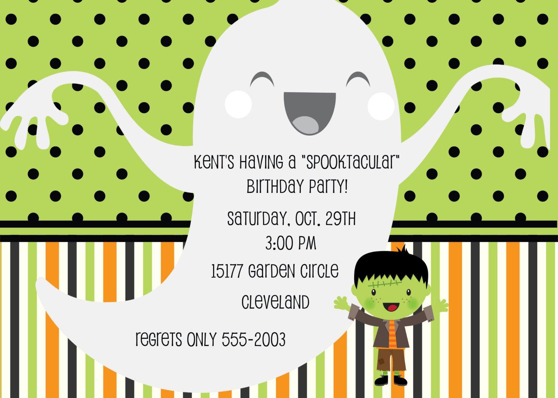 Creepy Halloween Invitation Wording