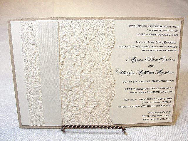 Cricut Lace Wedding Invitations