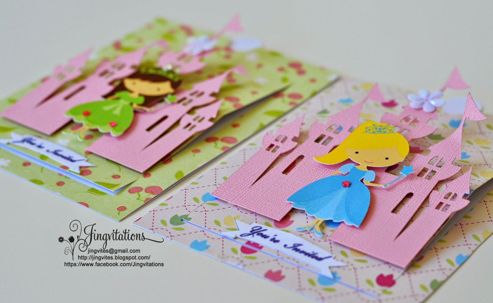 Cricut Princess Invitation