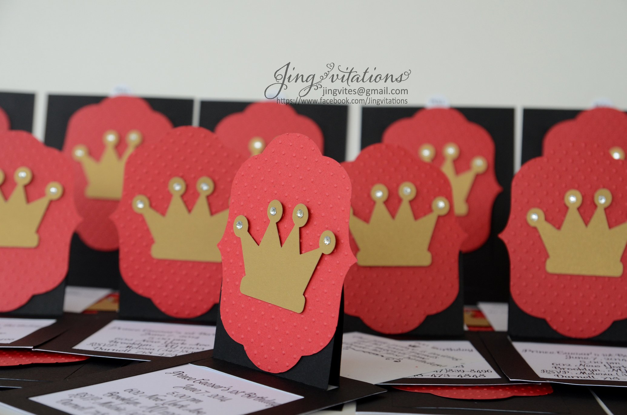 Cricut Princess Party Invitations