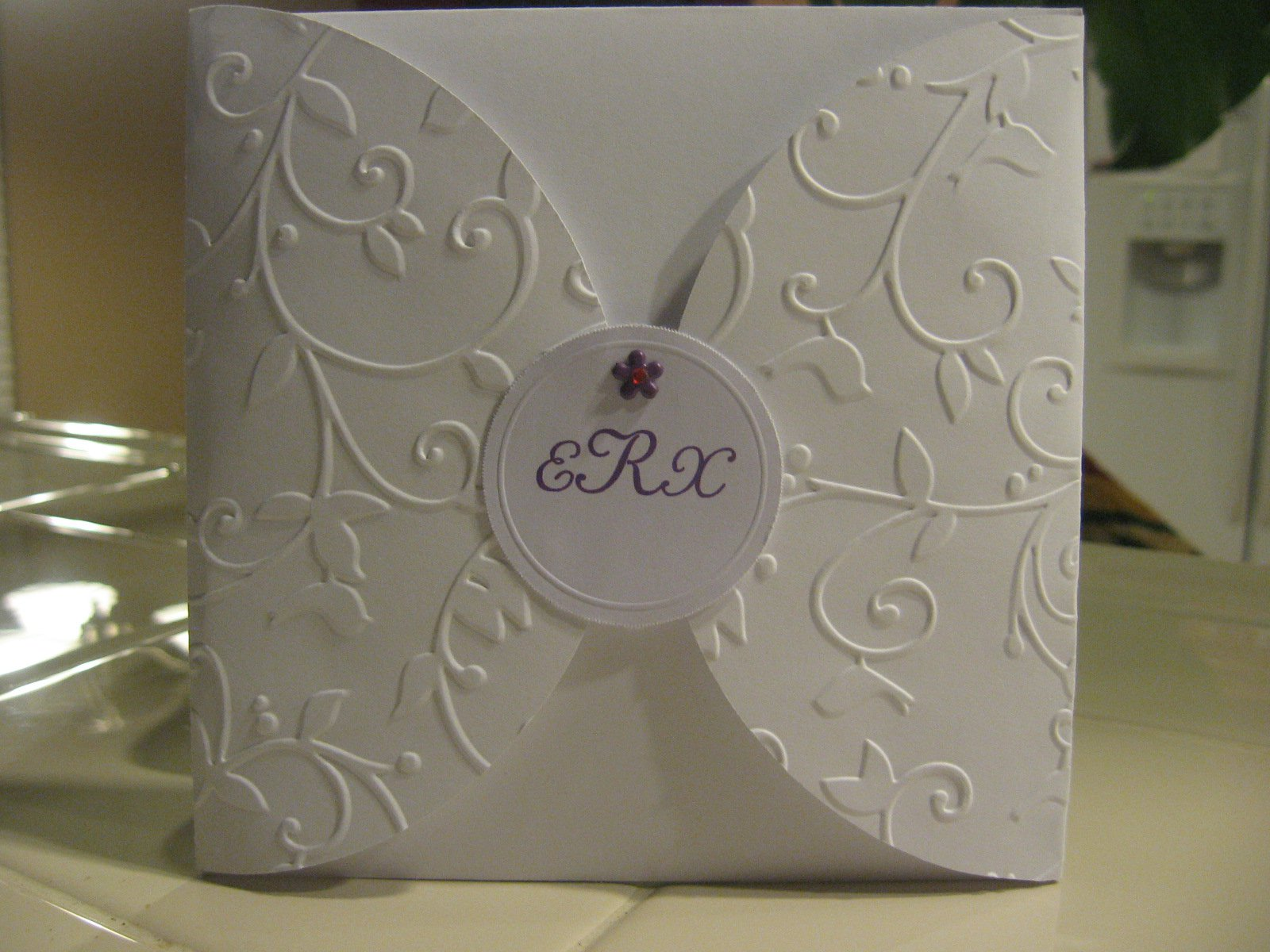 Cricut Wedding Invitations Samples