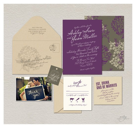 Cross Wedding Invitations Dusty Rose