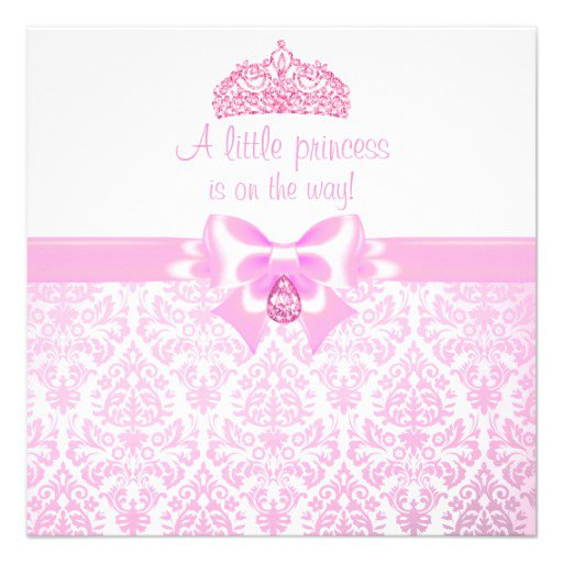 Crown Baby Shower Invitations