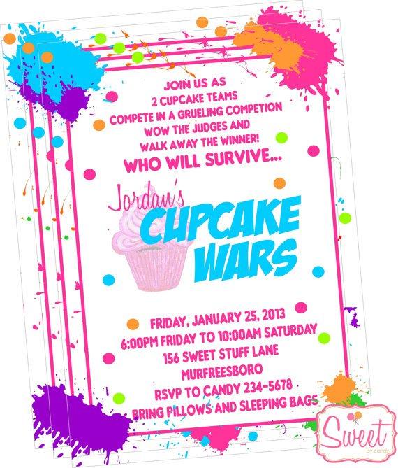 Cupcake Wars Party Invitations