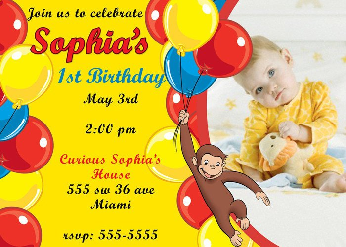 Curious George Invitation Ideas