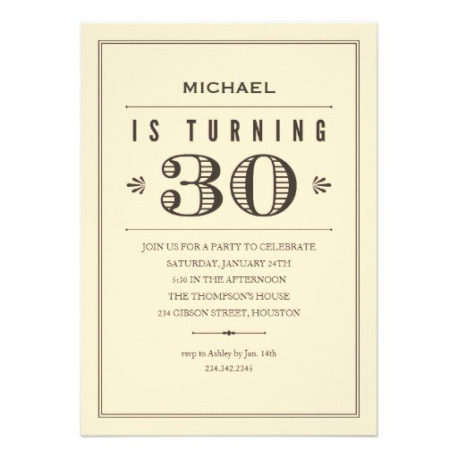 Custom 30th Birthday Invitations