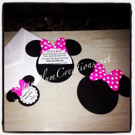 Custom Baby Minnie Mouse Invitations