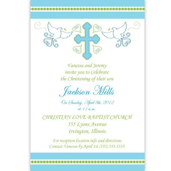 Custom Baptism Invitations Free