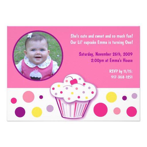 Custom Cupcake Birthday Invitations