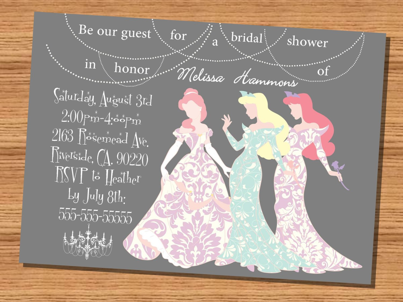 Custom Disney Princess Invitations