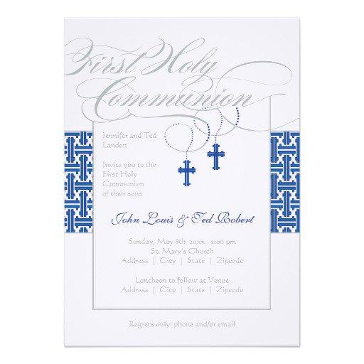 Custom First Holy Communion Invitations