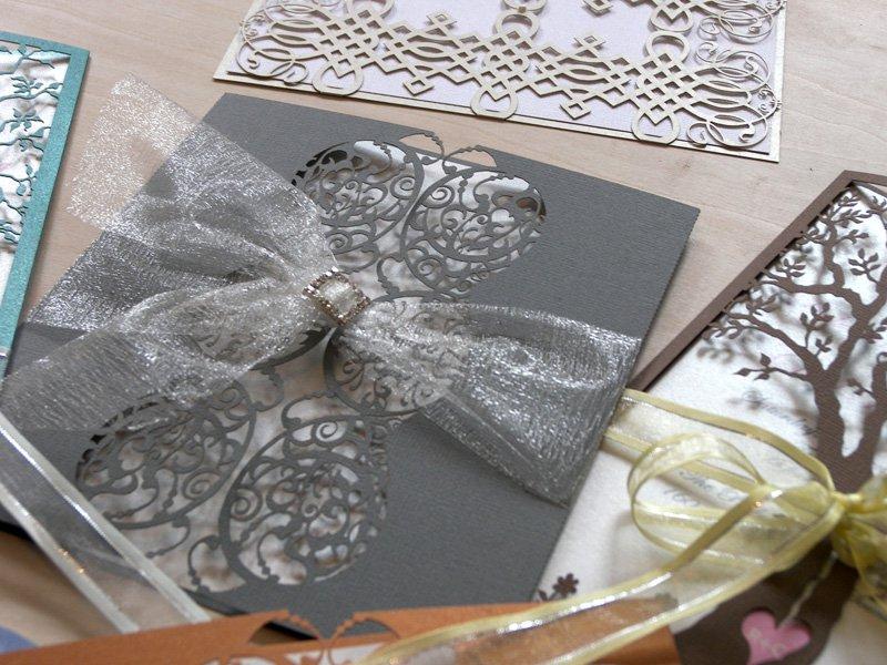 Custom Laser-cut Wedding Invitations