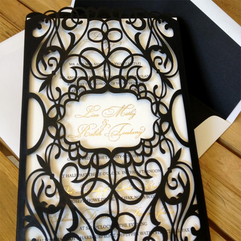 Custom Laser Cut Wedding Invitations