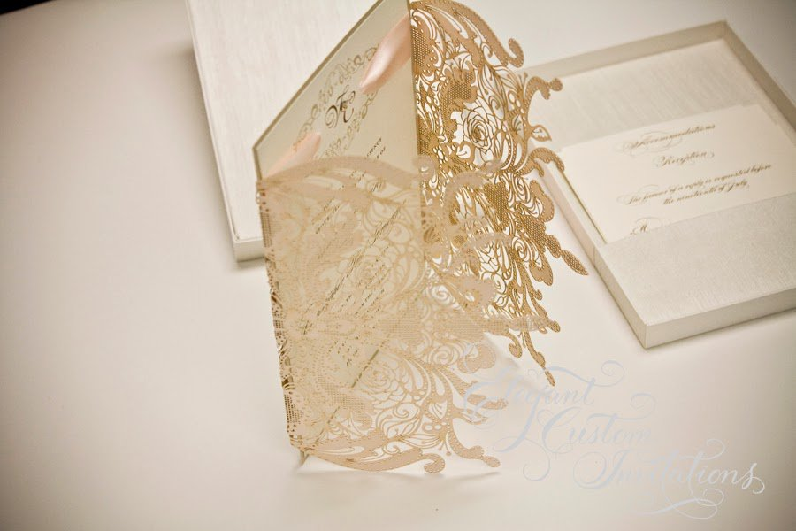 Custom Lasercut Wedding Invitations