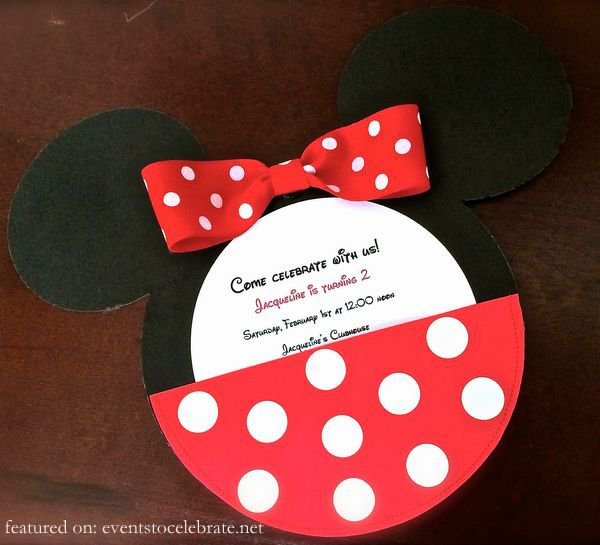 Custom Minnie Mouse Birthday Invitations