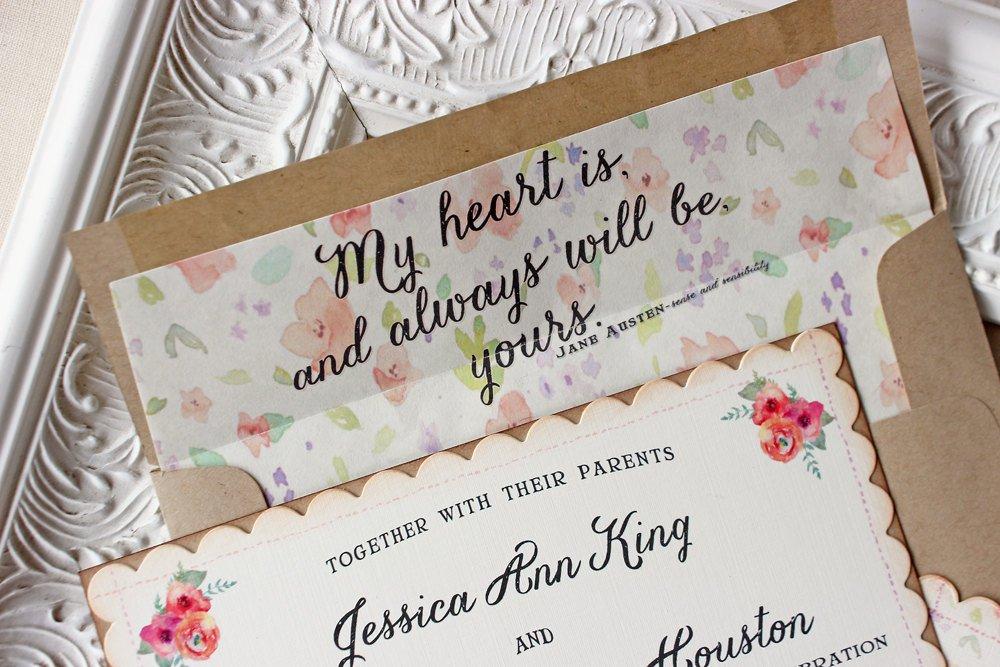 Custom Wedding Invitation Postcards