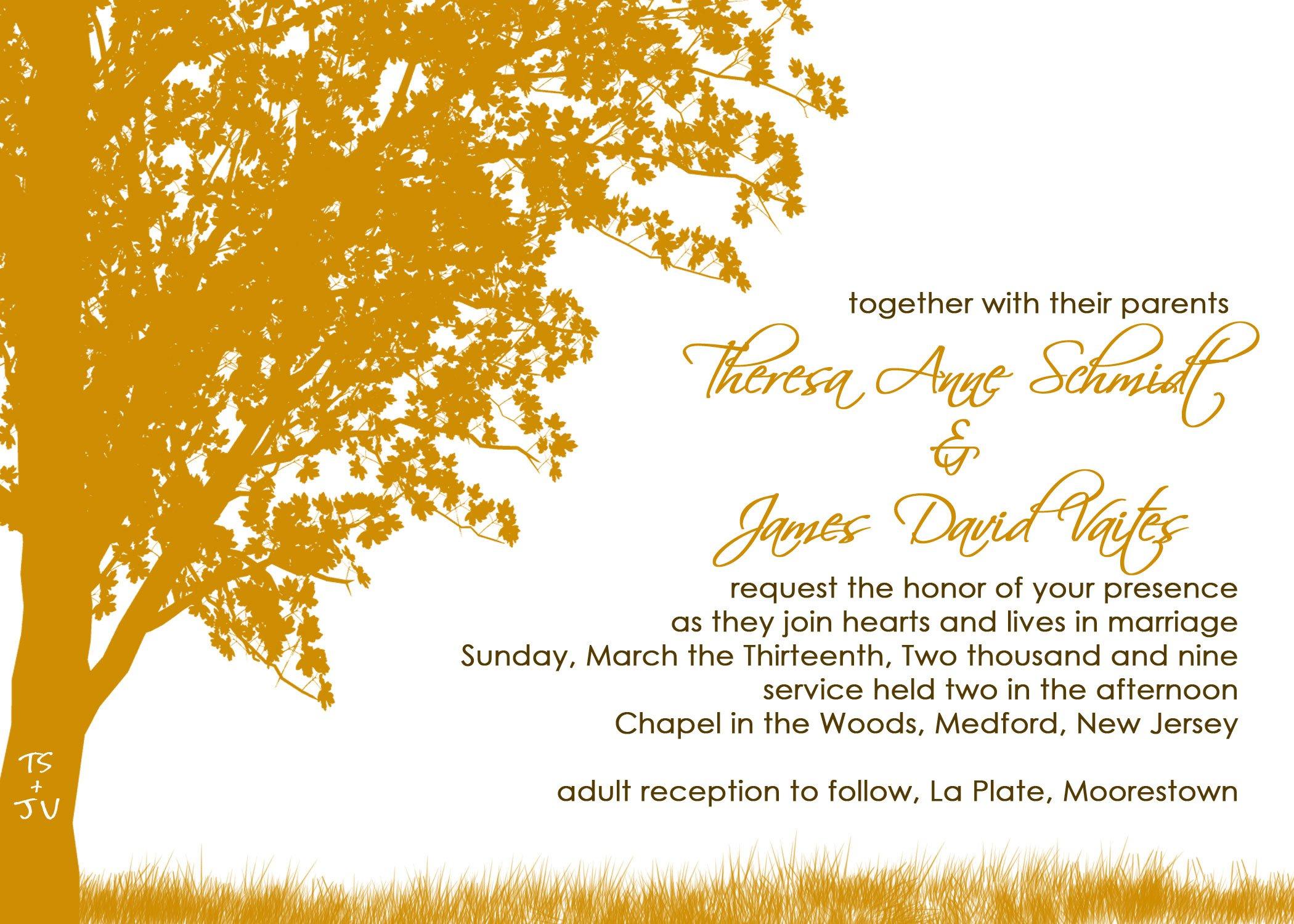 Custom Wedding Invitations Cards