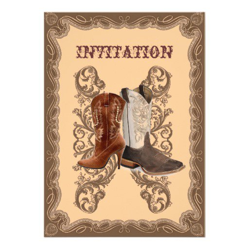 Custom Western Wedding Invitations