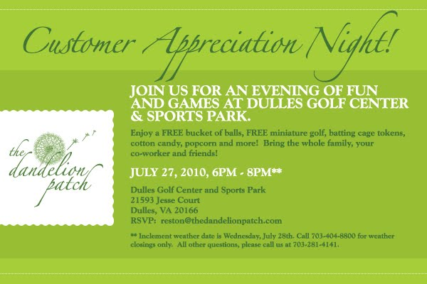 Customer Appreciation Event Invitation Wording