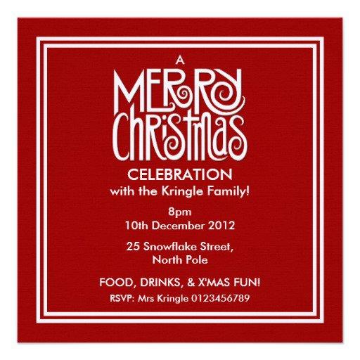 Customizable Christmas Party Invitations