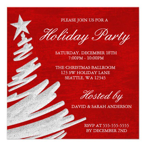 Customized Christmas Party Invitations