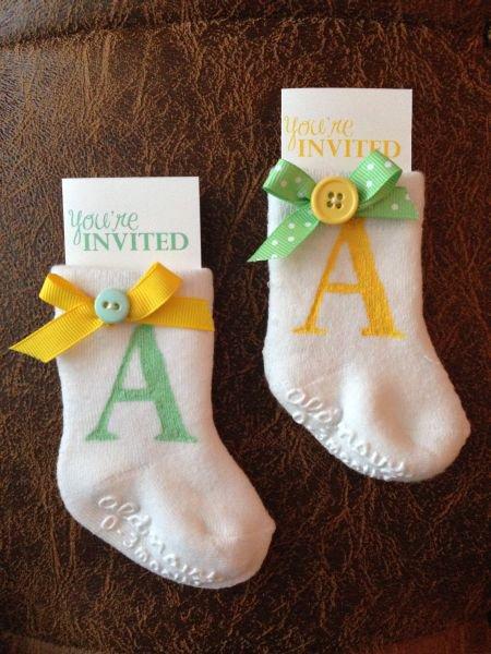 Cute Baby Shower Homemade Invitations