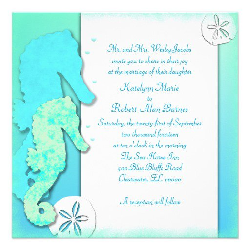 Cute Beach Wedding Invitation Wording. 512 X 512 ...