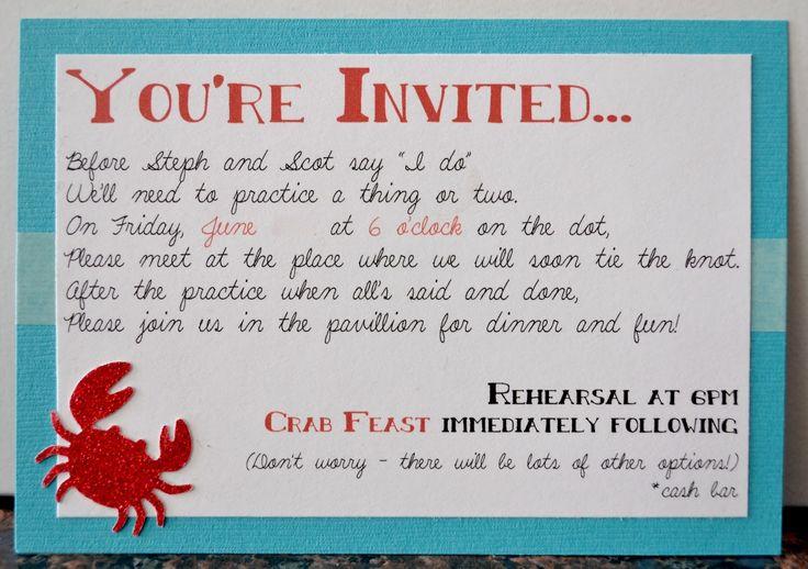 cute rehearsal dinner invitation wording