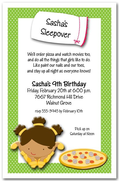 Cute Slumber Party Invitation Wording