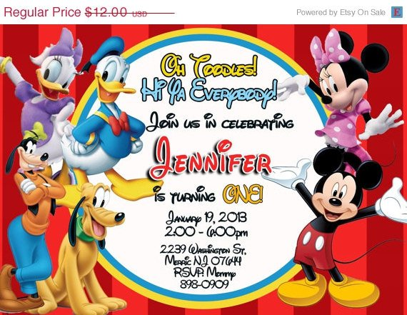 Daisy Duck Birthday Invitations
