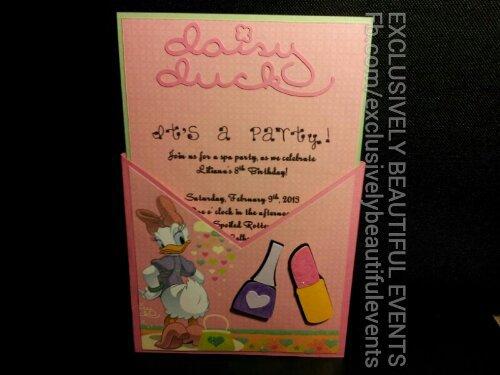 Daisy Duck Birthday Party Invitations