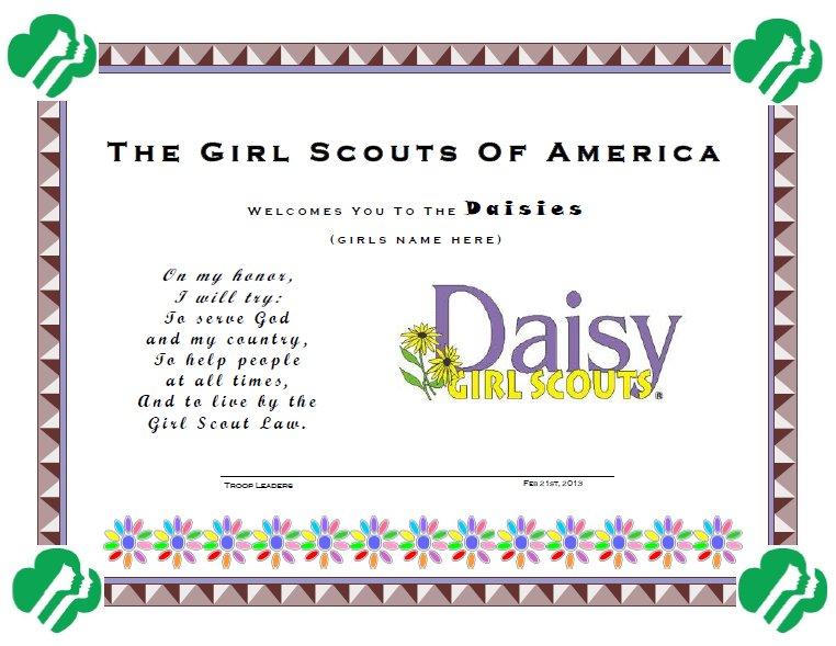 Daisy Girl Scout Investiture Ceremony Invitations