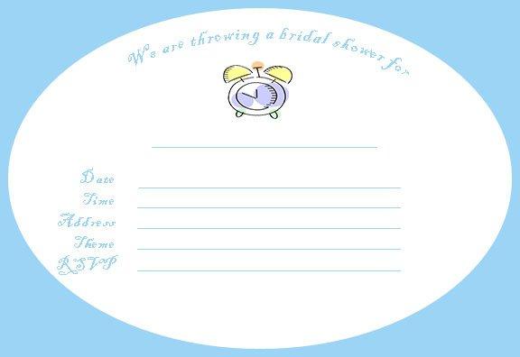 Damask Bridal Shower Invitation Template