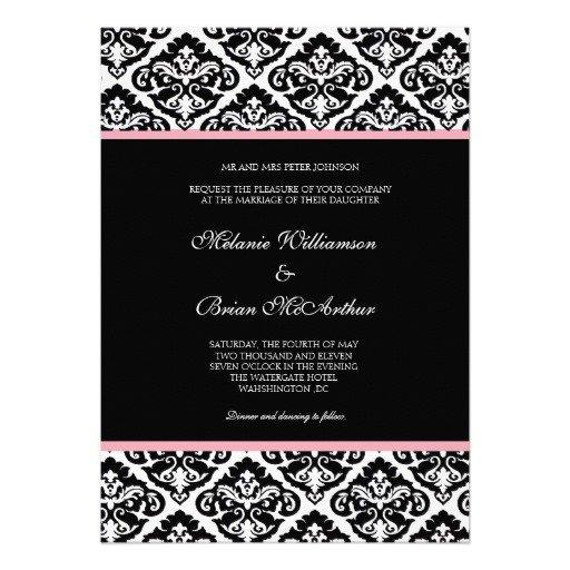 Damask Wedding Shower Invitations