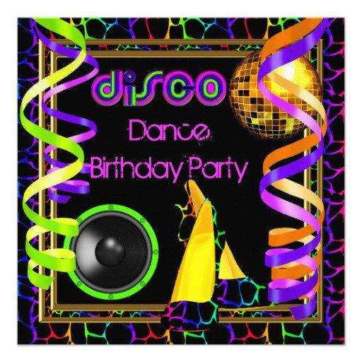 Dance Birthday Invitations