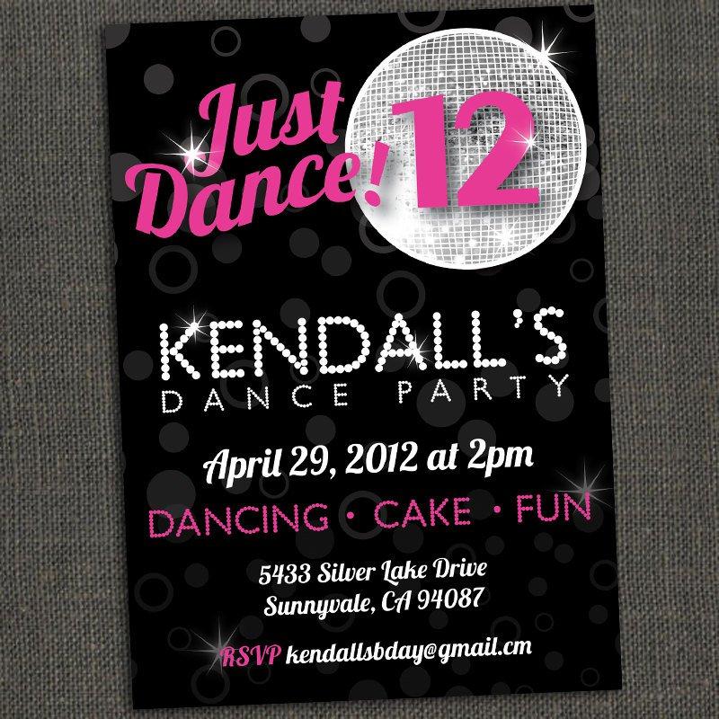 Dance Party Invitations Boys